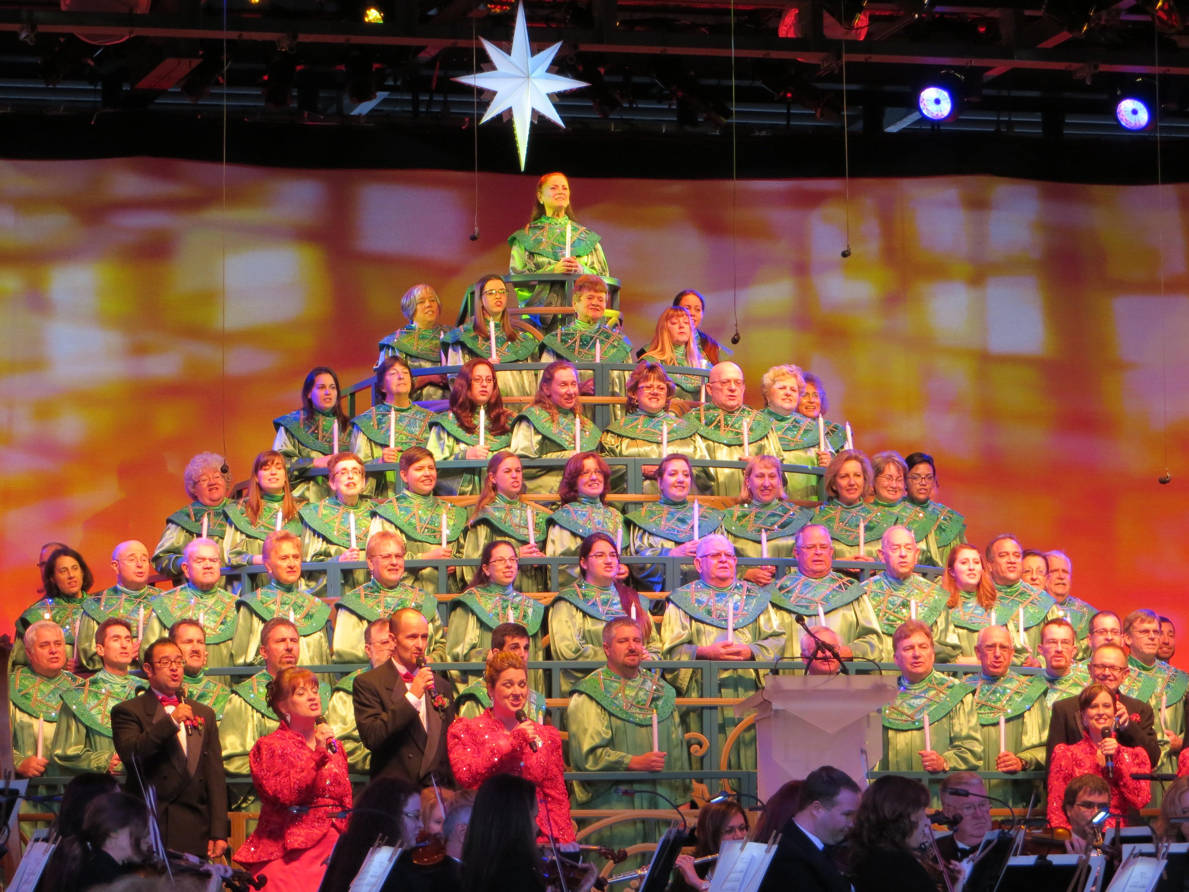 disney cast member choir makes up the christmas tree - The Christmas Choir Cast